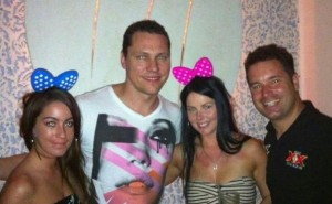 Tiesto and Party Team owner Andy in PV SB2012